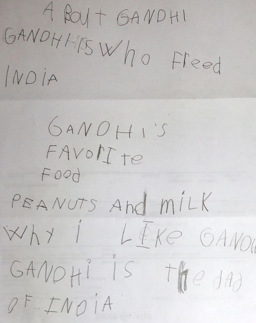 write few lines about gandhiji